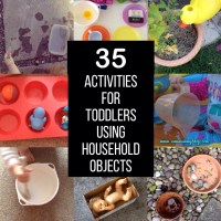 35 activities for toddlers using household objects
