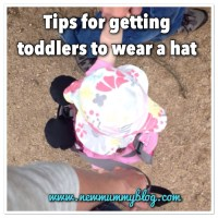 Tips to keep toddler's hat on