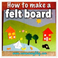 How to make a fuzzy felt board for toddlers | DIY Crafts Kids Activities