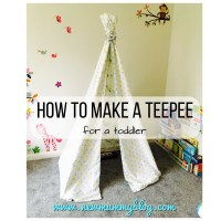 How to make a teepee - a super easy DIY toddler teepee play tent