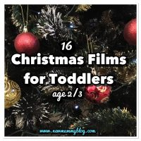 16 Christmas Films for toddlers age 2 or 3