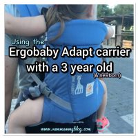 Using the Ergobaby Adapt carrier for a toddler (3 year old)| Babywearing review