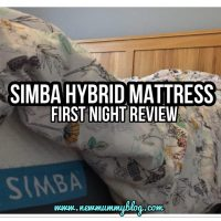 Simba hybrid mattress review - Our first night  | #simbasleep ... + £75 off a Simba Mattress!