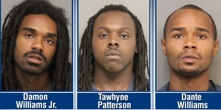 black suspects, Tawhyne M. Patterson and Dante D. Williams