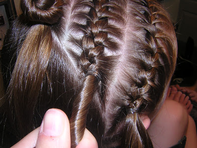 Feed In Braids With Rubber Bands Method New Natural