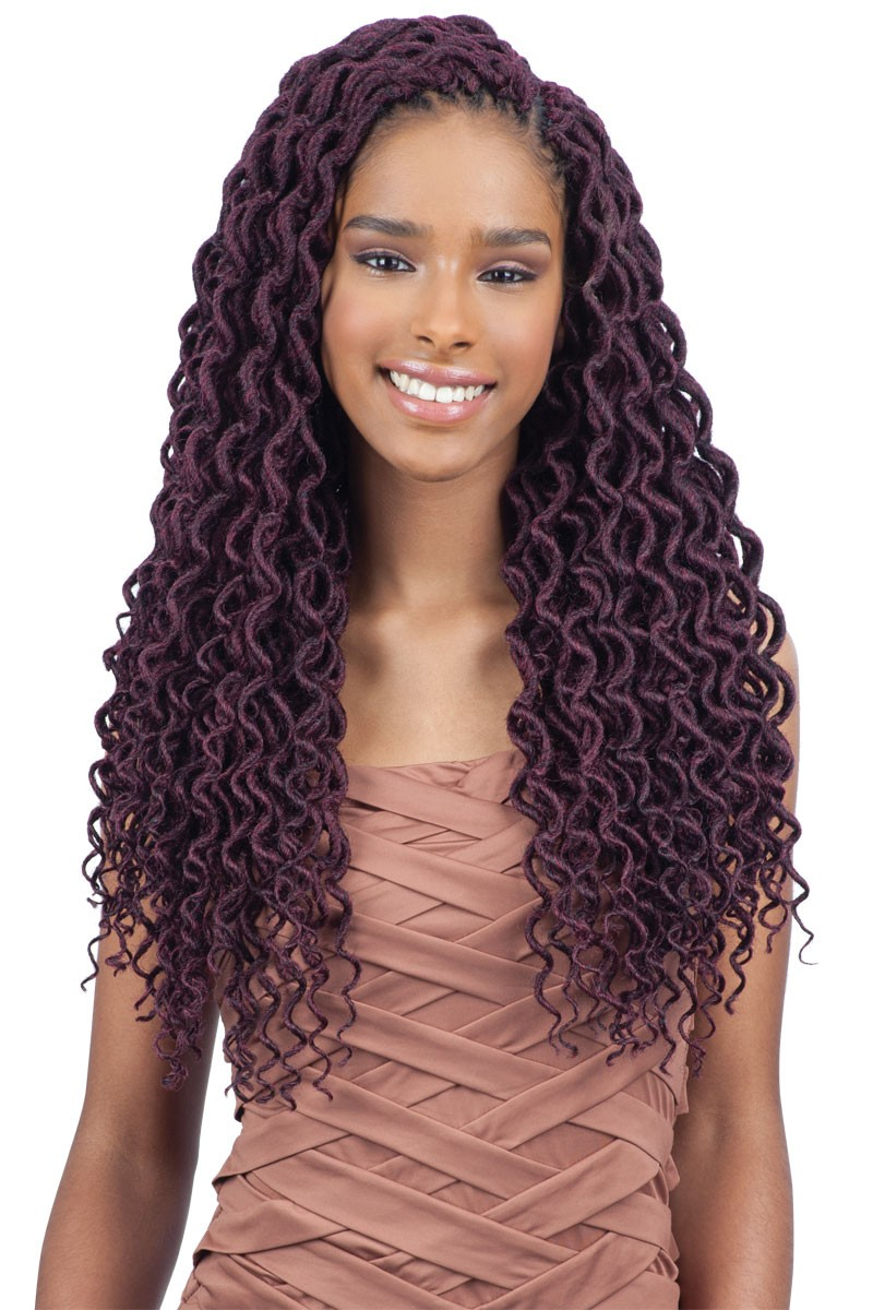 Dashing 3 Faux Locs With Curly Hair New Natural Hairstyles