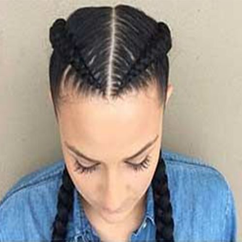 2 Goddess Braids With Weave New Natural Hairstyles