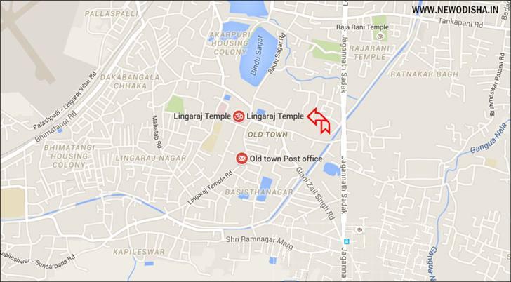 Lingaraj Temple Route Map