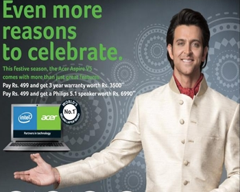 Diwali 2012 Offer on Acer Laptops in Odisha