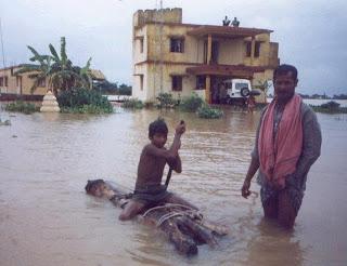 Flood Alert in 4 districts in Odisha & 60 School Boys Rescued