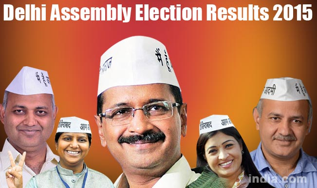 Delhi Election Results 2015 and Winning Candidates List