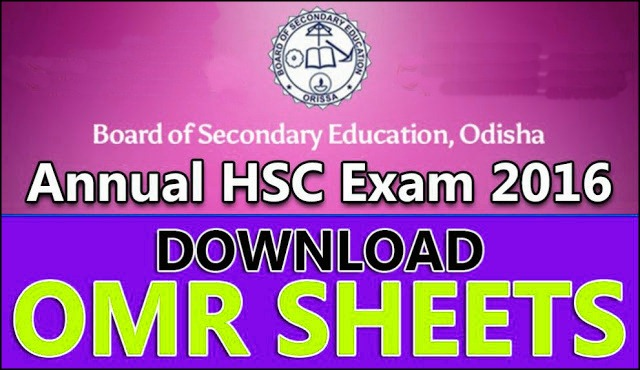 BSE Odisha Matric Exam 2016 OMR Answer Sheets Scan Copies