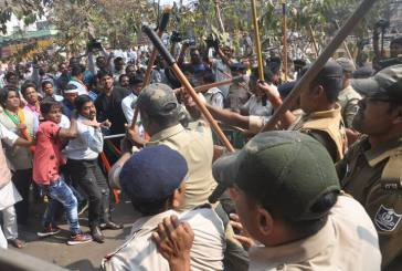 Police resort to lathi-charge on BJP workers in Bhubaneswar