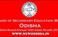 Odisha Matric 10th 2018 Results by BSE Odisha