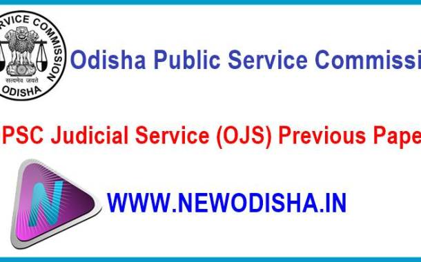 Previous Year Question Papers of Odisha Judicial Service Examination by OPSC