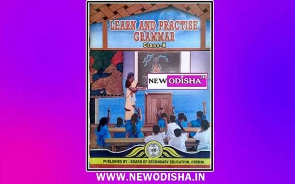 Class 10th English Grammar Book by BSE Odisha