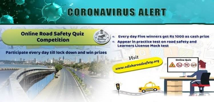 Second Day Online Odisha Road Safety Quiz Competition Goes Live