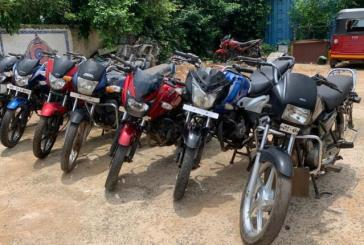 Motorcycle Lifting Gang Busted In Bhubaneswar; 3 Held, 7 Bikes Seized