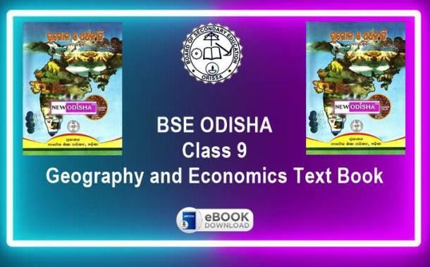 Geography and Economics (SSG) Odisha Board Class 9th Text Book