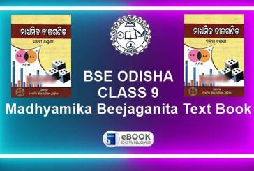 Madhyamika Beejaganita (MTA) Odisha Board Class 9th Text Book