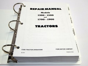Ford 1300, 1500, 1700, 1900 Tractor Service Manual Repair Shop Book NEW wBinder | eBay