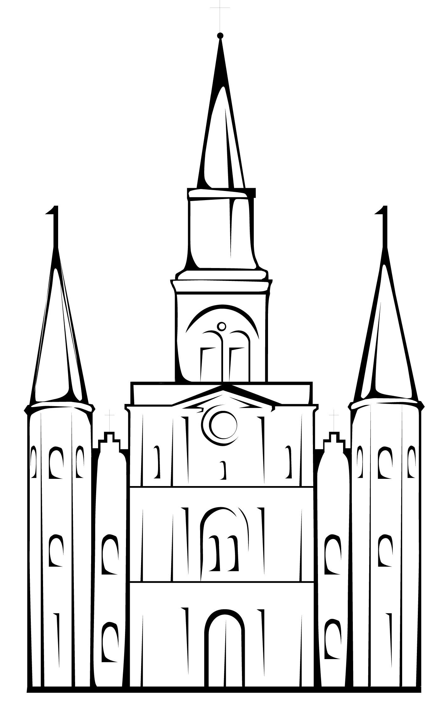 St Louis Cathedral Outline