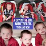 A Day in the Life With Triplets – Then and Now