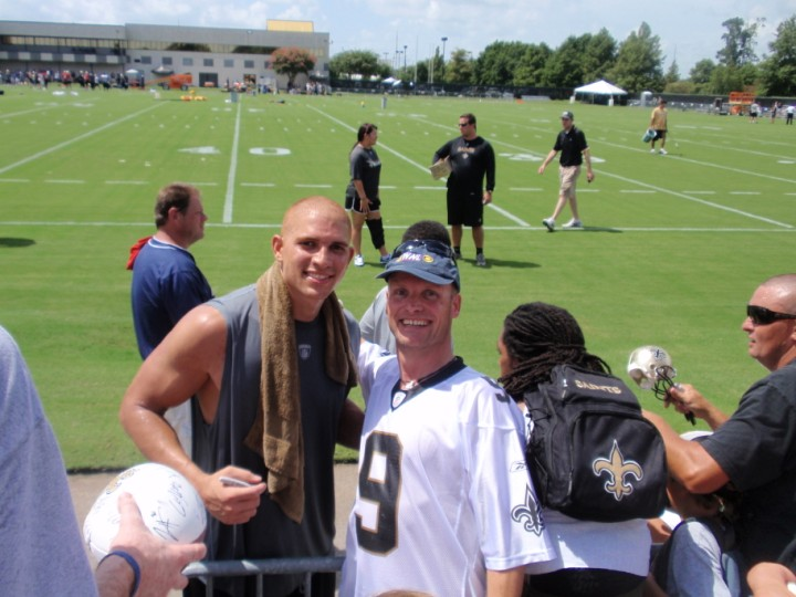Visit at The Saints Training Camp 2011