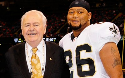 McAllister og Benson i Saints Hall Of Fame