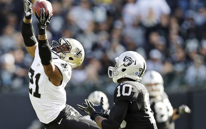 Raiders 17, Saints 38