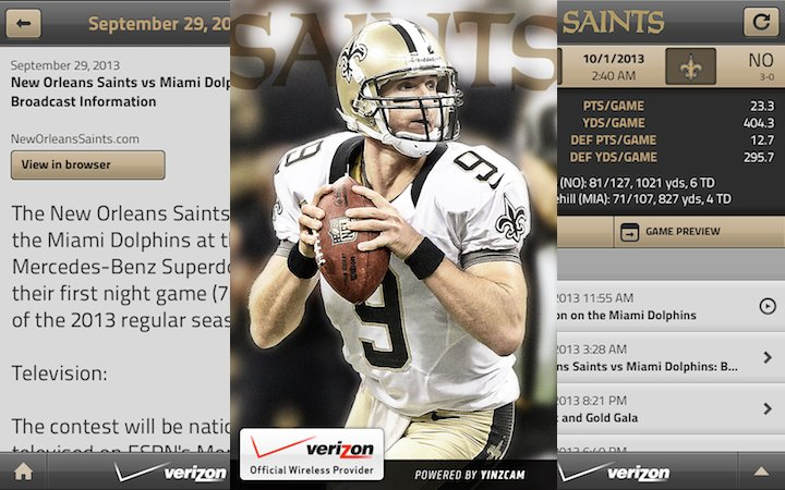 New Orleans Saints Gratis Mobil App