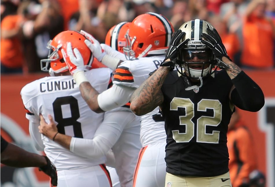 Saints 24, Browns 26