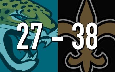 Jaguars 27, Saints 38