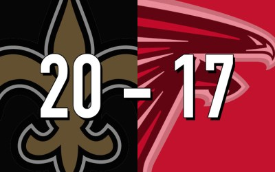 Saints 20, Falcons 17