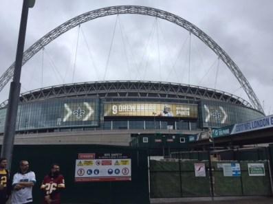 Wembley er gjort klar til New Orleans Saints og Miami Dolphins. FOTO: Martin Olsen