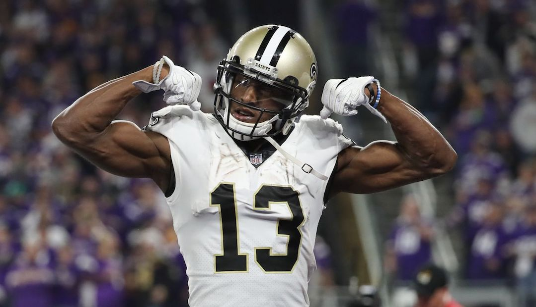 New Orleans Saints wide receiver Michael Thomas skriver NFL historie