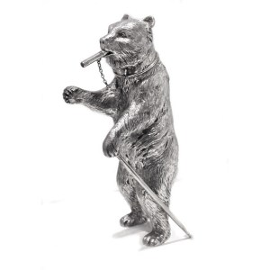 Sterling Silver Bear Cocktail Shaker