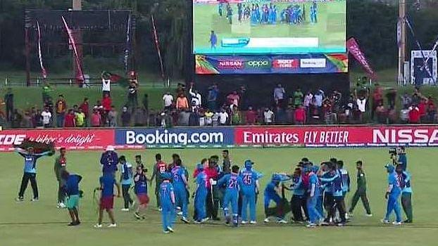 Shameful end to a wonderful game of cricket.