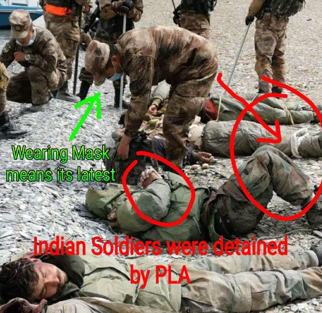 PLA releases the pictures of detained Indian soldiers