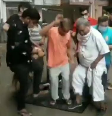 Indians throwing away made-in-China Tv sets and dancing over in order to revenge against China