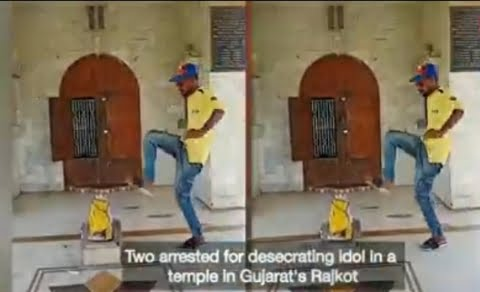 Youth Kicking idol and Hindu temple, facts of viral video