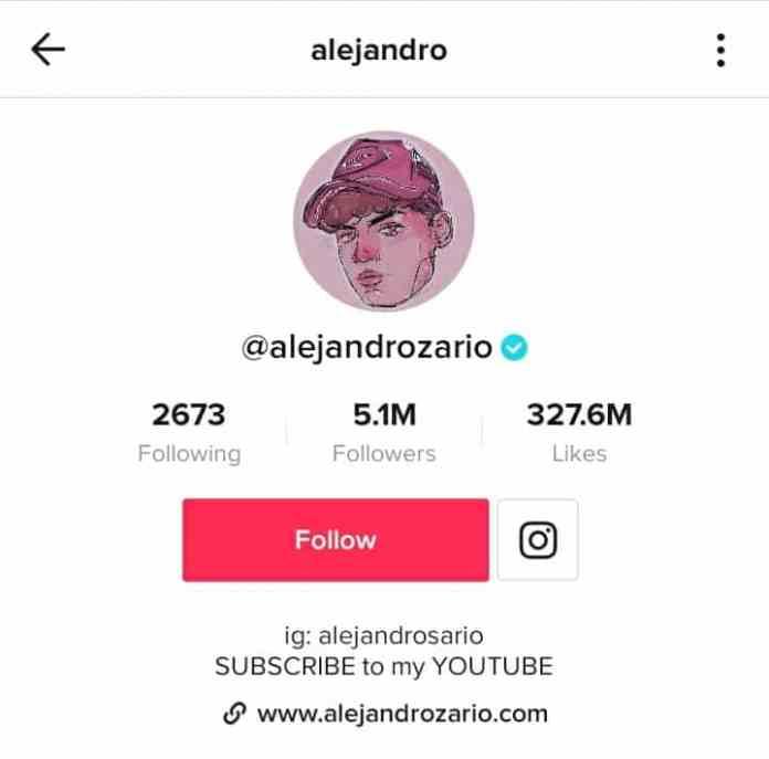 Alejandro Rosario TikTok profile