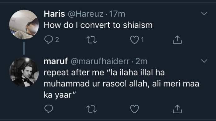 Screenshot of Blasphemous tweet made by same person on his other Twitter account