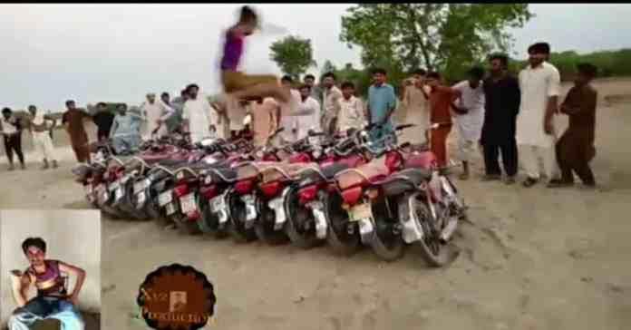 Dilawar Khan Baloch jumps over 12 motorcycles