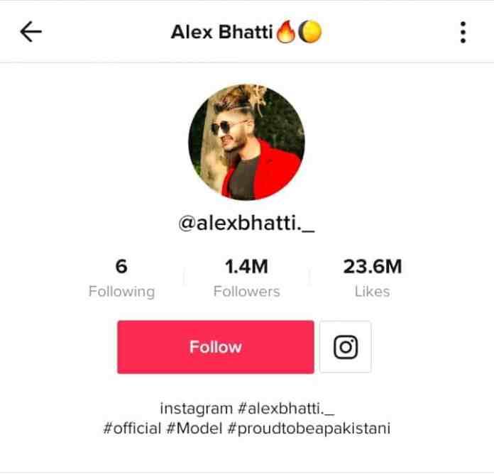 TikTok profile of Alex Bhatti