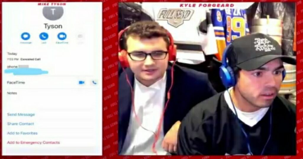 Nelk Leaks Mike Tyson's Phone number during Live Stream