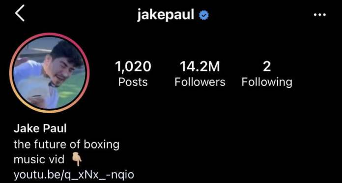Jake Paul changed his profile pic on Instagram to Dillon Danis getting hit in the face by toilet paper
