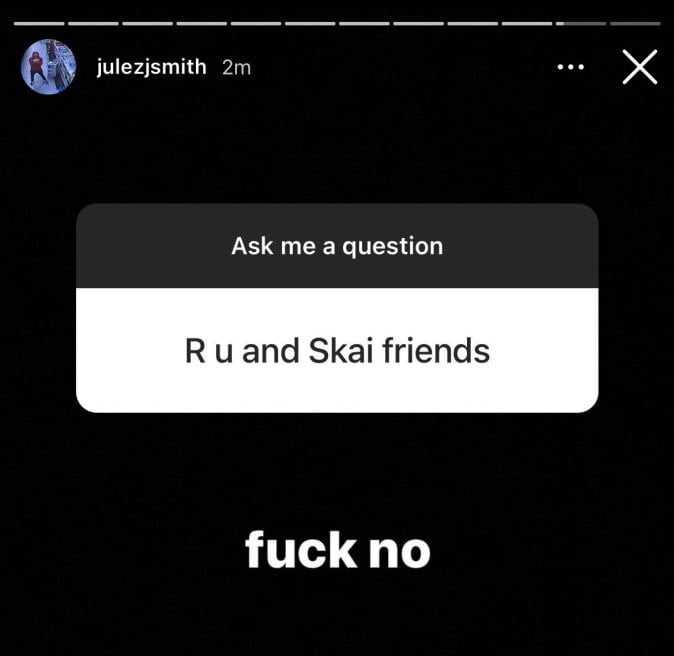 Julez Smith broke up with Skai Jackson and leaked their video on social media