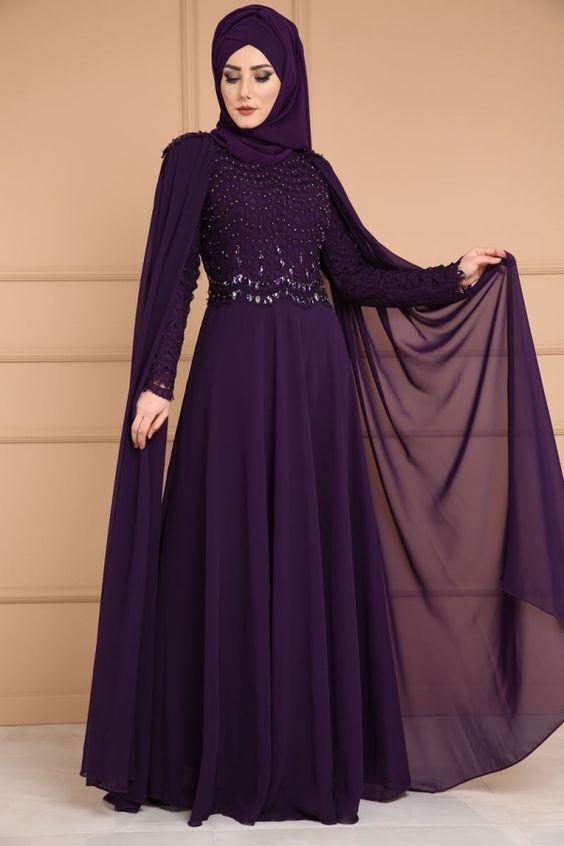 565a57bc2ba92 ... في العالم 2019 ، ارقي مجموعة من تصميم حديث لفساتين محجبات مودرن رائعة  جدا التي تتناسب مع جميع الخروجات والمناسبات للبنات والنساء المحجبات لعام  2020.