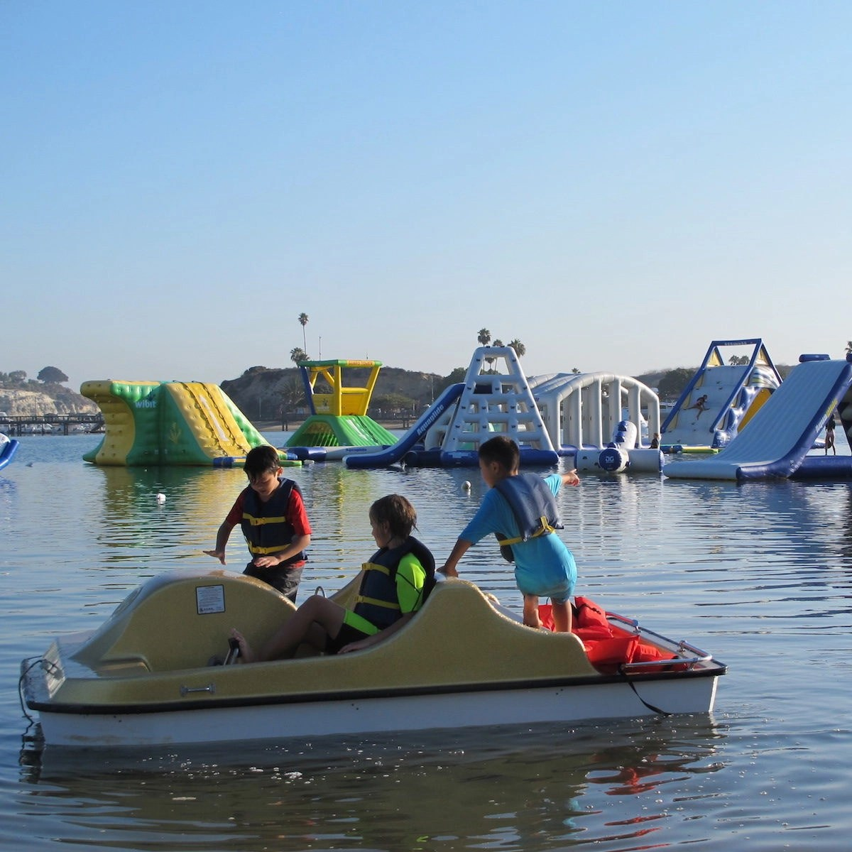 family-friendly fun on pedal boats